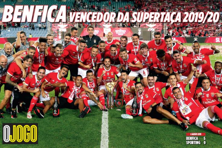 GRÁTIS, hoje: póster do Benfica vencedor da Supertaça 2019/20