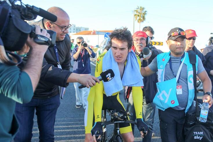 Geraint Thomas, vencedor da Volta à França, correu no Algarve
