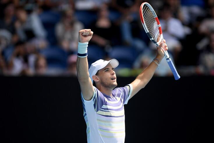 Dominic Thiem chega onde nunca tinha chegado no Open da Austrália