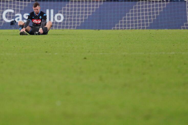 Fabian Ruiz, jogador do Nápoles, era o rosto da desilusão