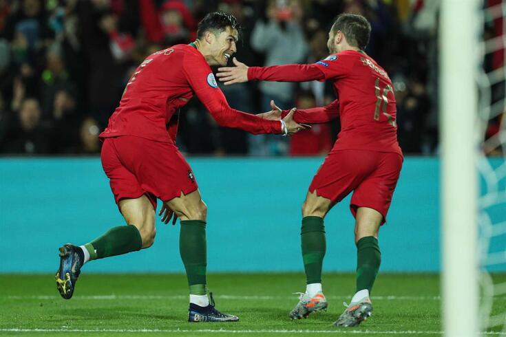 Cristiano Ronaldo e Bernardo Silva