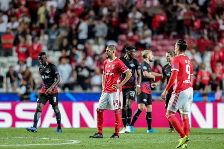 Benfica foi derrotado pelo Leipzig na Luz