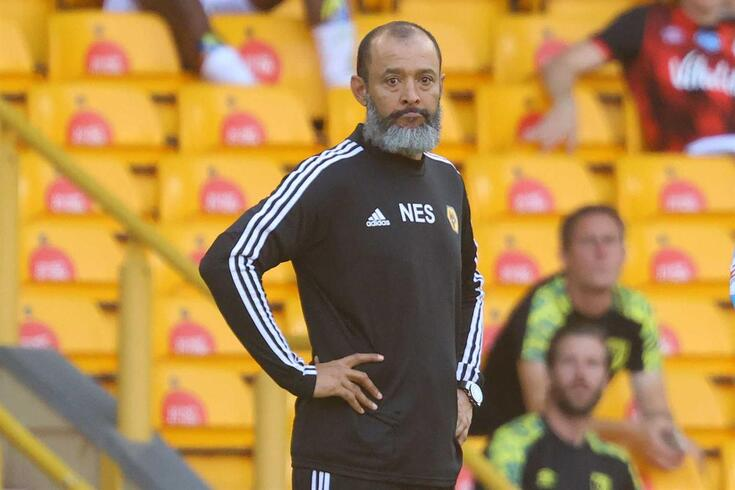 Wolverhampton Wanderers' Portuguese head coach Nuno Espirito Santo looks on during the English Premier