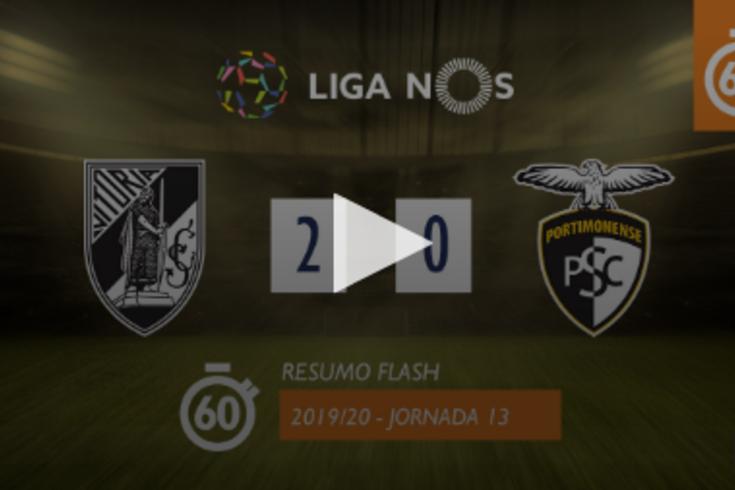 O Vitória de Guimarães-Portimonense em apenas um minuto