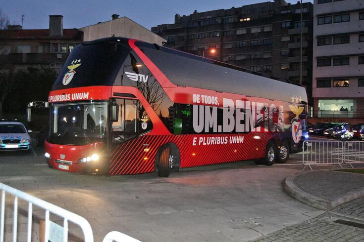 Comitiva do Benfica já se encontra no Porto