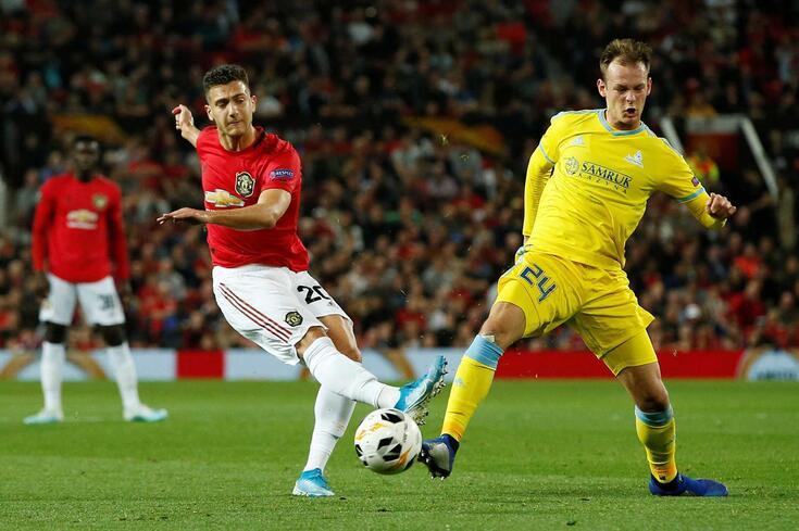 Diogo Dalot no Manchester United-Astana