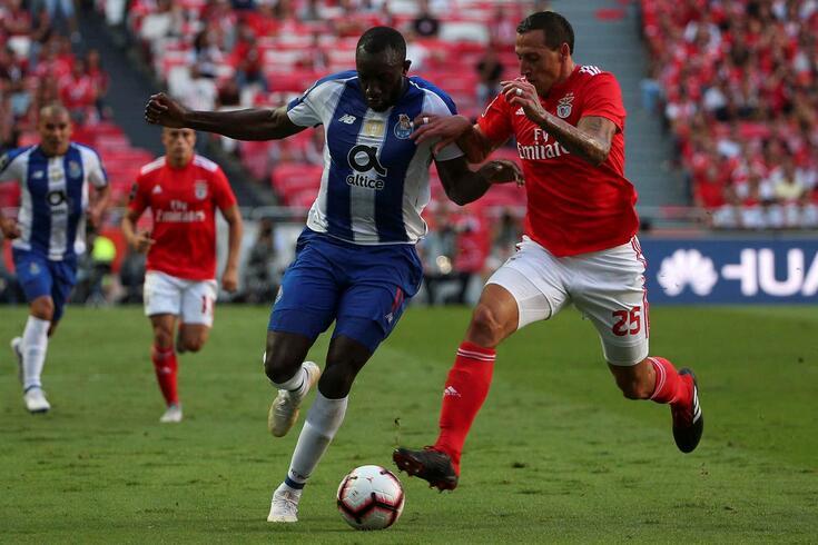 Lema em ação pelo Benfica frente ao FC Porto
