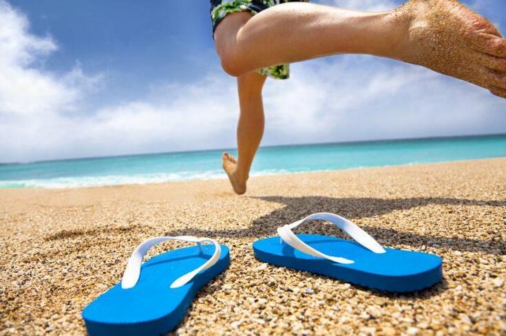 O truque para perder gordura na areia