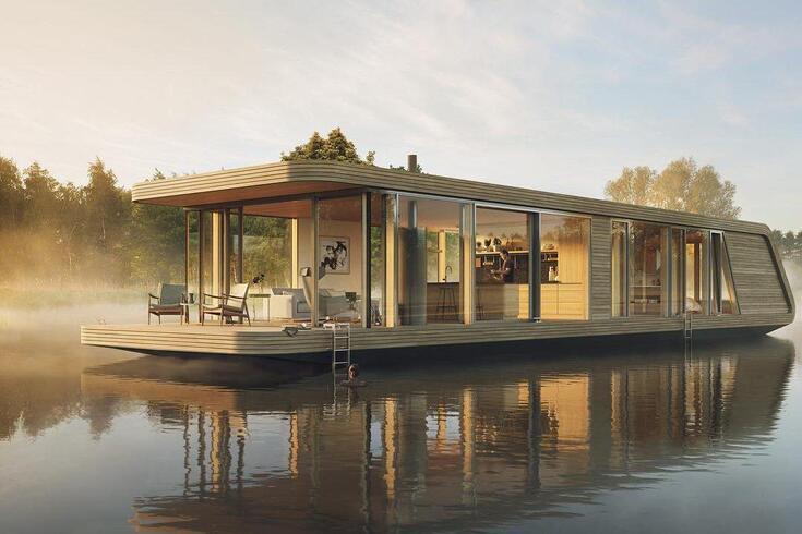 Casa flutuante oferece-lhe luxo máximo sem poluição