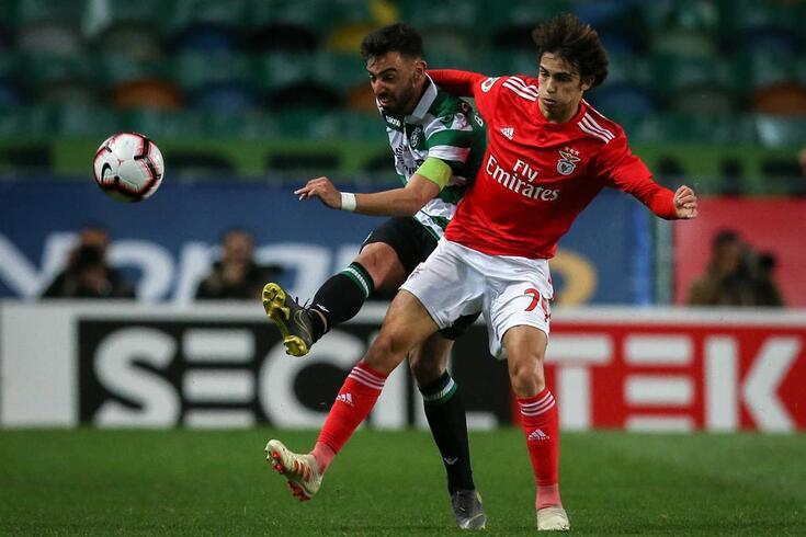 Benfica e Sporting podem encher os bolsos com a venda dos seus craques João Félix e Bruno Fernandes