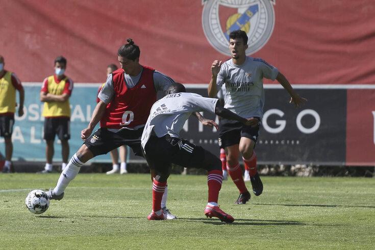 Treino do Benfica em setembro de 2020