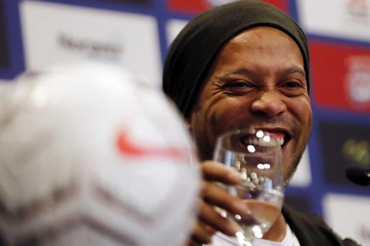 Ronaldinho Gaúcho, antiga estrela do futebol mundial