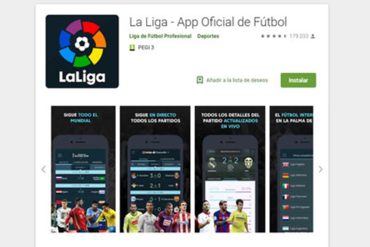 Aplicação oficial da liga espanhola