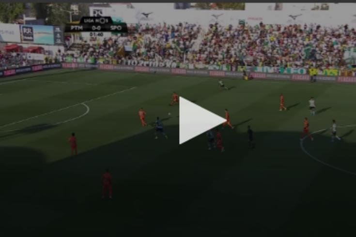 Portimonense-Sporting: golaço de Raphinha abre marcador