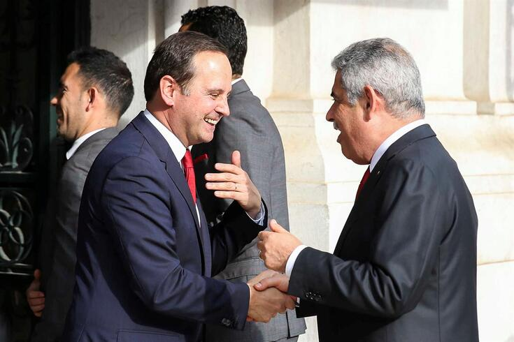 Fernando Medina e Luís Filipe Vieira