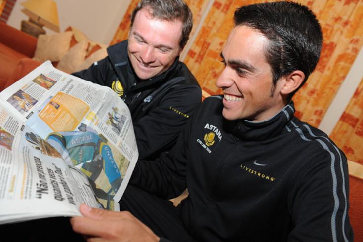 Sérgio Paulinho e Alberto Contador, em 2009