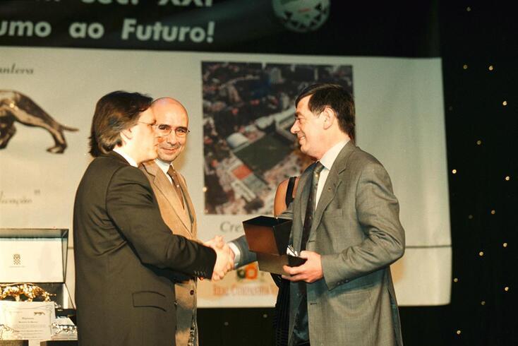 Alcindo Marques (à direita), premiado pelo Boavista