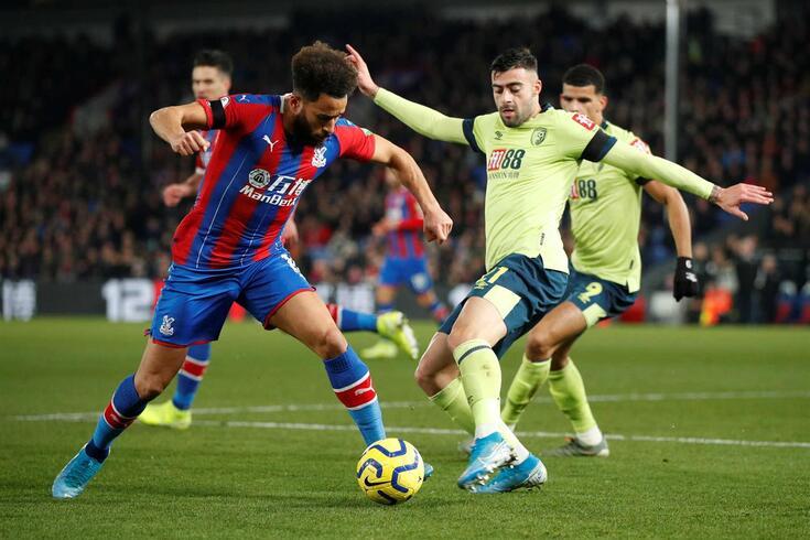 Crystal Palace e Bournemouth defrontaram-se nesta terça-feira.
