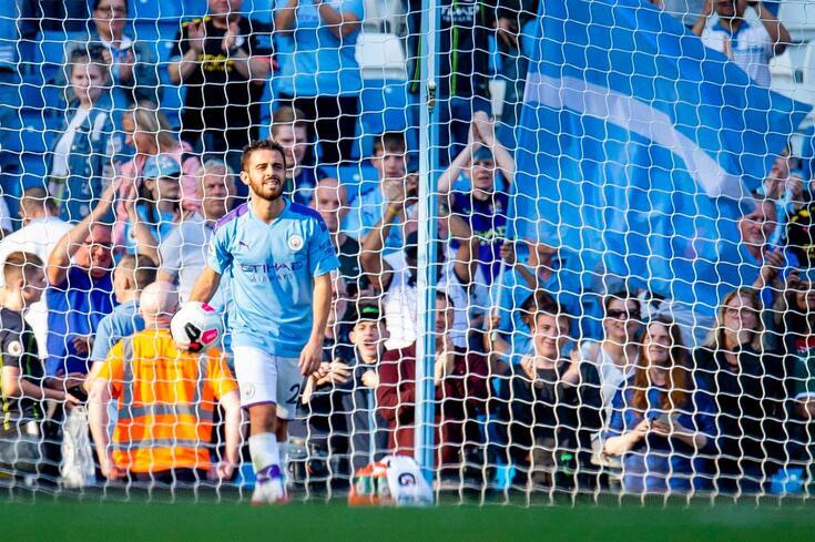 Bernardo Silva fez um hat-trick frente ao Watford