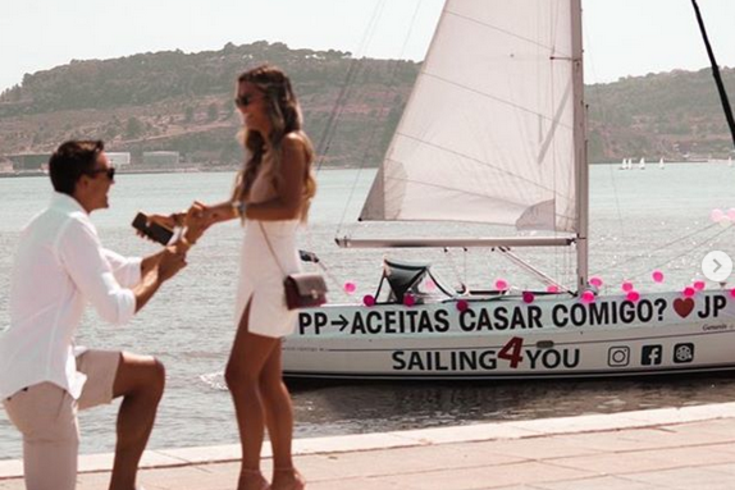 Palhinha, médio do Sporting, pediu Patrícia Palhares em casamento