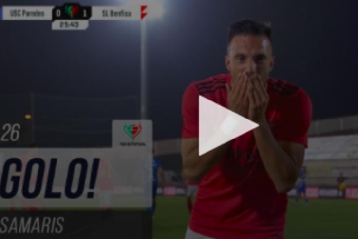 Benfica venceu o Paredes por 1-0