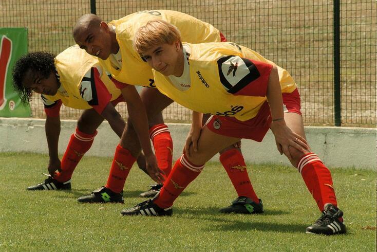 Paulo Nunes num treino do Benfica