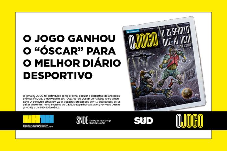 """O JOGO ganhou o """"Óscar"""" para o melhor diário desportivo"""