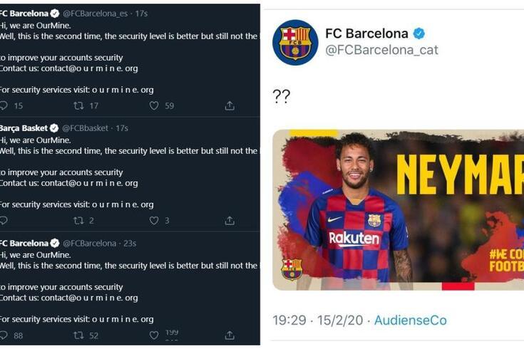 "Twitter do Barcelona vítima de ataque informático: ""Olá somos OurMine"""