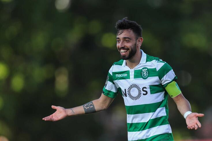 Bruno Fernandes, festeja um golo do Sporting, frente ao Belenenses.