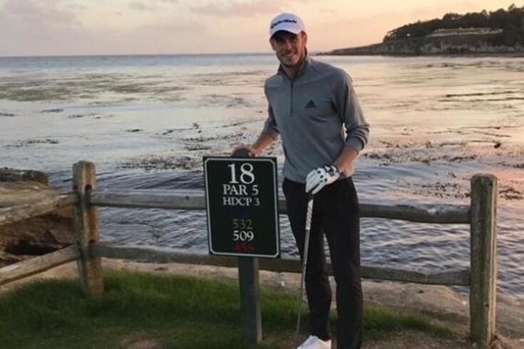 Bale não esconde a paixão pelo golfe