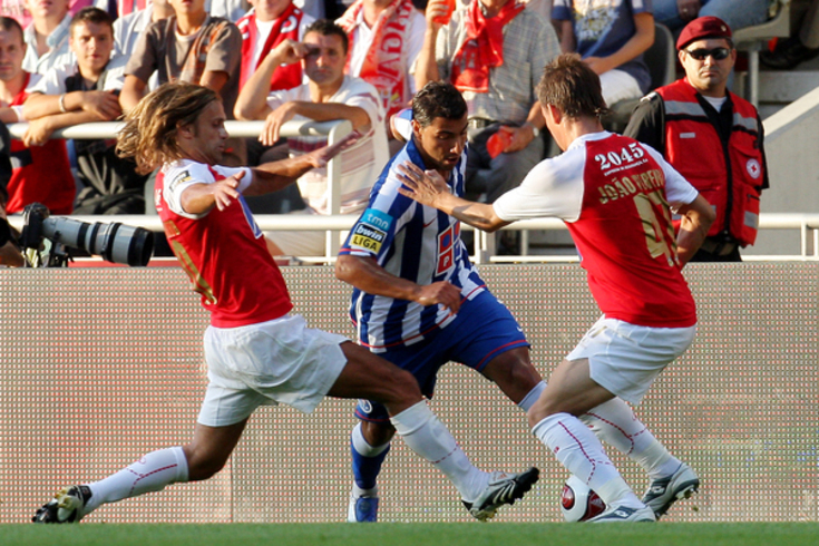 Quaresma marcou ao Braga, ao serviço do FC Porto, em 2007/08