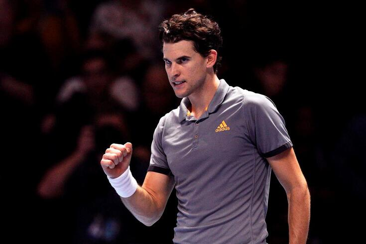 Thiem verga Federer e Djokovic arranca ATP Finals com vitória