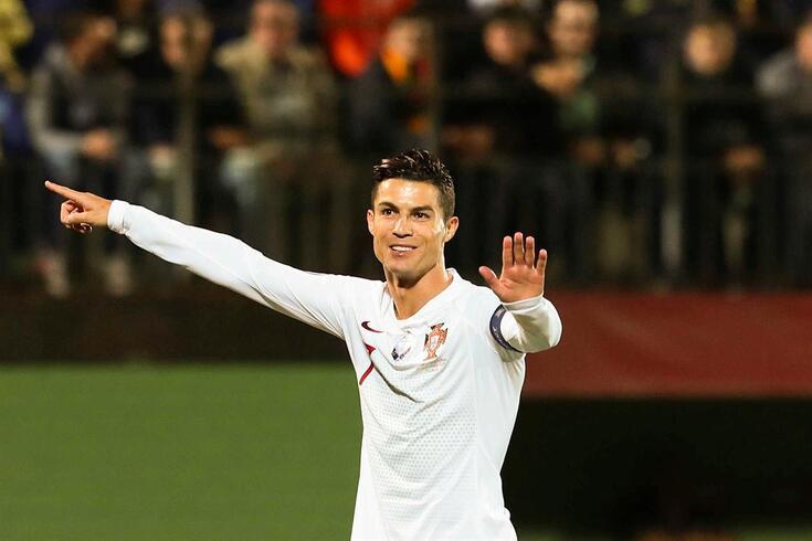 Cristiano Ronaldo marcou quatro golos à Lituânia