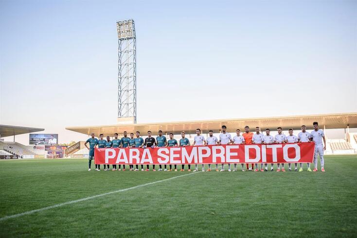 Jogadores de Braga e Gil Vicente homenagearam Dito