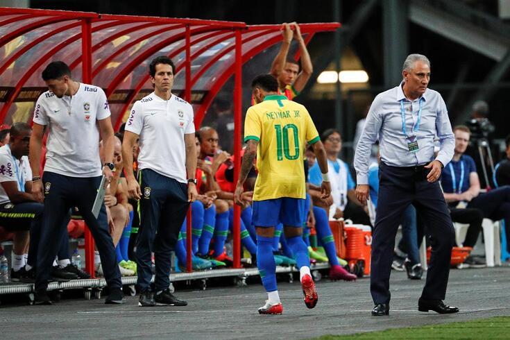 Neymar lesionou-se ao serviço da seleção brasileira