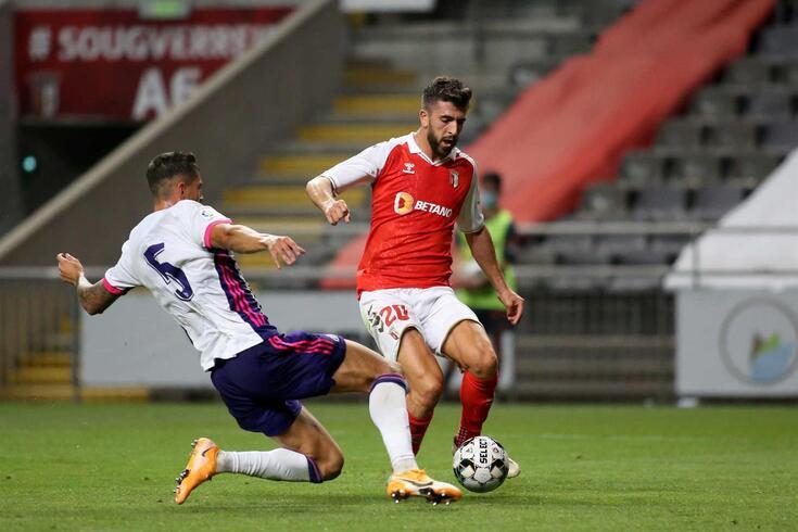 Paulinho, jogador do Braga, em dúvida para o jogo do Dragão
