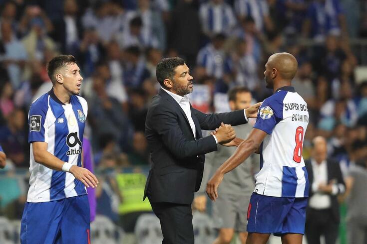 Sérgio Conceição com Herrera e Brahimi