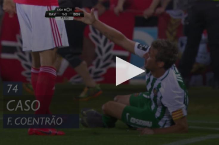 Rio Ave-Benfica: Fábio Coentrão baixa os calções a Samaris