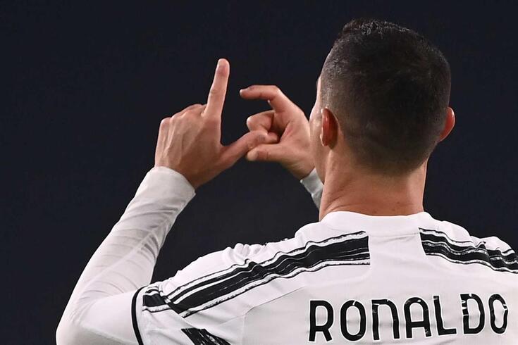 O festejo de Ronaldo frente à Udinese