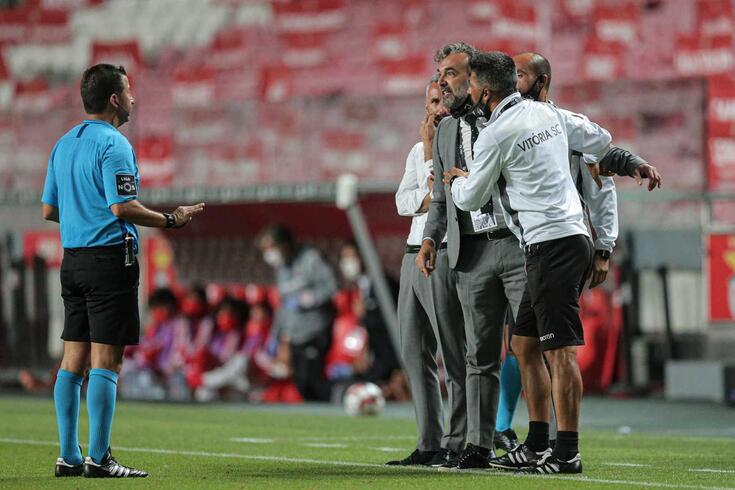 Hugo Miguel foi o árbitro do Benfica-V. Guimarães