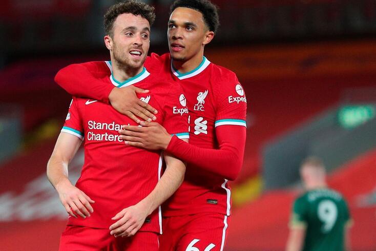 Diogo Jota deu o triunfo ao Liverpool