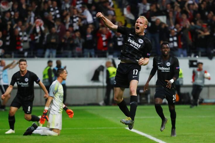 Rode fez o golo do apuramento do Eintracht Frankfurt