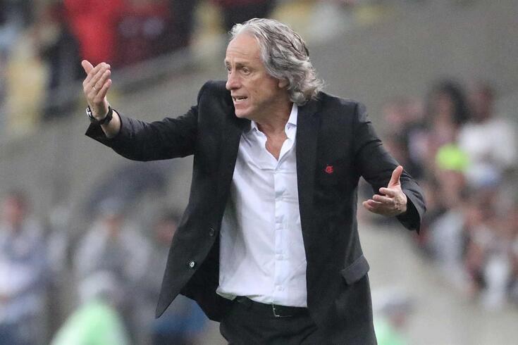 Jorge Jesus foi eleito treinador da jornada no Brasileirão.