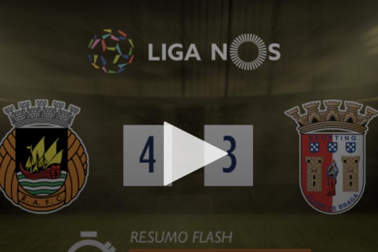 A vitória do Rio Ave sobre o Braga contada em um minuto