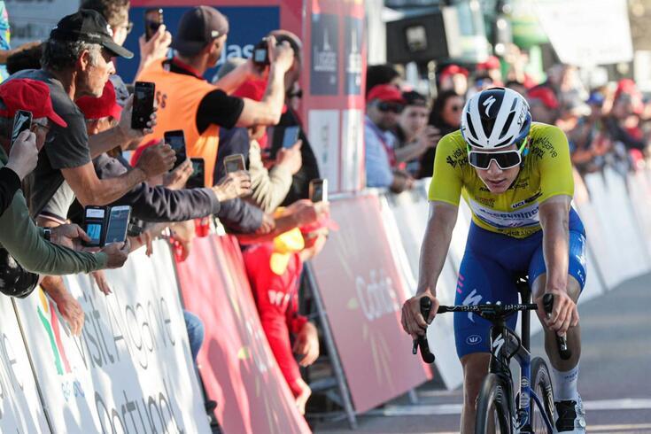 Remco Evenepoel, Bel (Deceuninck-QuickStep), corta a meta no final da quarta etapa da 46ª. volta ao Algarve