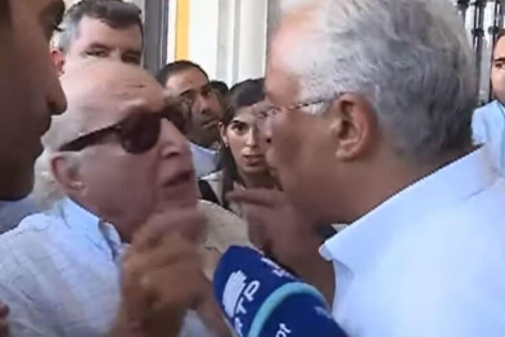 António Costa desentende-se com idoso em plena campanha