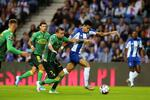 FC Porto's Luis Diaz (R) in action against Famalicao's Lionn during their Portuguese First League soccer