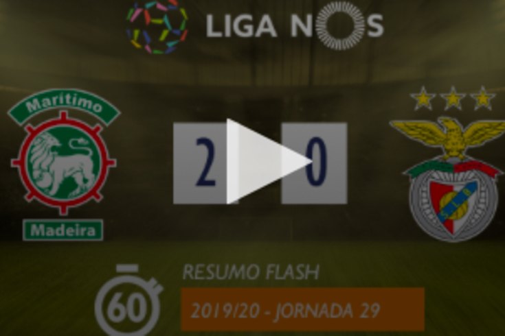 O Marítimo recebeu e derrotou o Benfica por 2-0