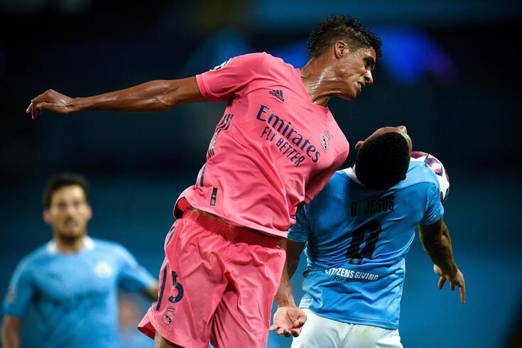 Varane no Manchester City-Real Madrid