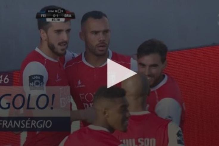 Feirense-Braga: cruzamento de Esgaio e Fransérgio abre o marcador
